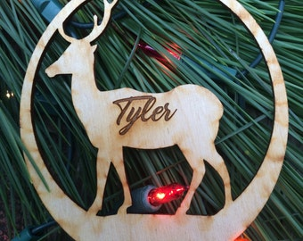 Reindeer Ornament, Christmas Ornament, First Chritsmas, Personalized Ornament