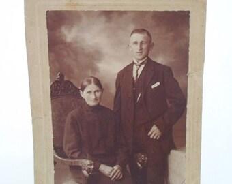 ON SALE Photograph, Photo, Portrait, Man, Women, Vintage, Antique, Cabinet Photo, Black and White