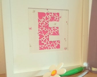 Letter Papercut with Heart design