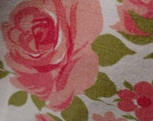 Reserved  Full Flat Sheet All Cotton Pink Roses