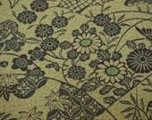Floral Vintage Japanese Tango chirimen silk kimono fabric