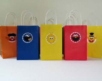 Sesame Street Favor Bags - MEDIUM - Set of 10