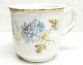 Antique Shaving Mug White Royal Porcelain Cup Maddocks Lamberton Blue Floral Transfer Ware With Gold Trenton NJ