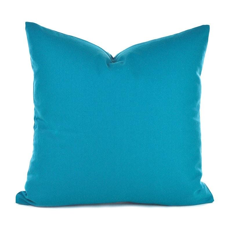 Decorative Pillow Measurements : Blue Pillow Covers ANY SIZE Decorative Pillow Cover Aqua