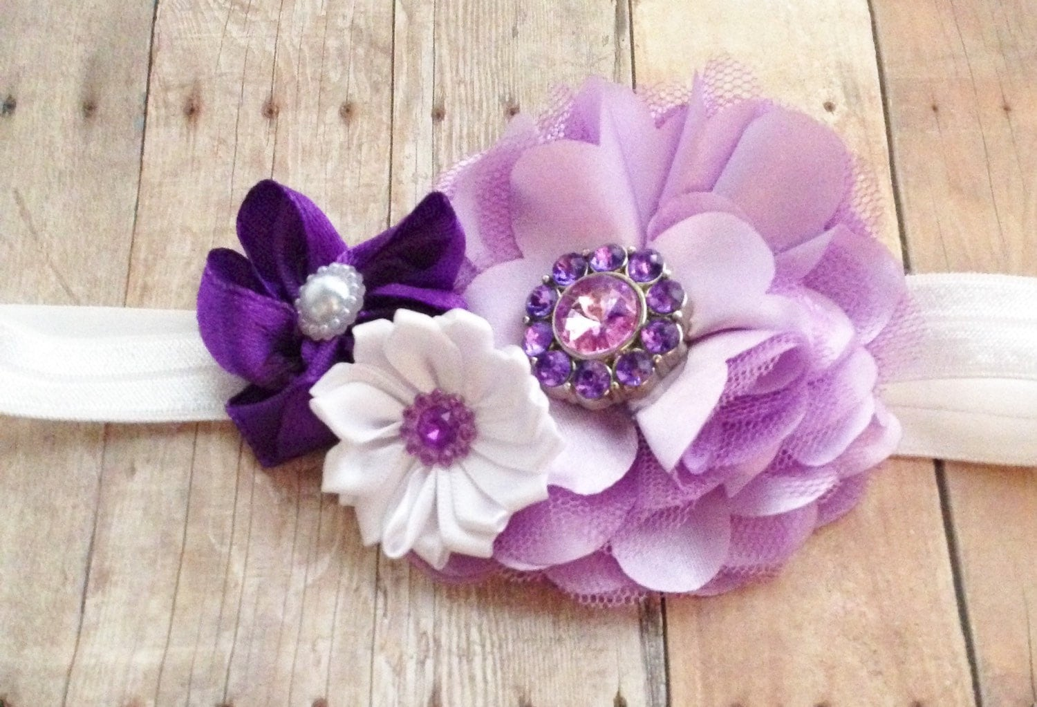 Purple Flower Headband Princeas Sofia Headband Purple Ombre