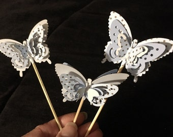 3-D Paper Butterfly Toppers