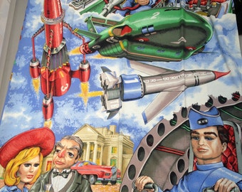Vintage Thunderbirds Bedding Duvet Cover with Pillowcase for Patchwork Quilting Pillow Dress making