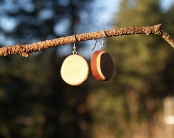 Wood Earrings, Tree Branch Earrings, Madrone Wood Earrings, Forest Earrings