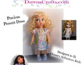 Precious Peasant Dress Pattern for Disney's Animators Collection Dolls
