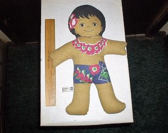 C & H Sugar Hawaiian Huggables Boy Cloth Doll