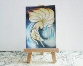 Ninetales ACEO/ATC Miniature - Watercolour Pokémon Painting - Original Art
