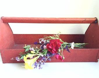 Red Kennedy metal tool box