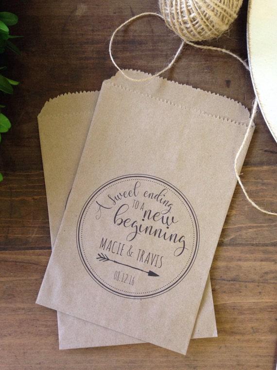 Wedding Favor Bags, Rustic Candy Buffet Sacks, Custom Wedding Favors ...