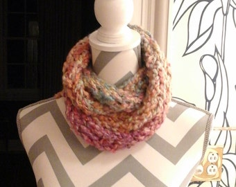 Fireside knitted scarf