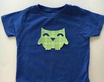 Owl Iron on Applique - Owl Applique - Owl shirt - Woodland Animal Applique - Woodland Owl Applique