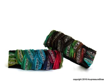 Acupressure Anti Nausea Bracelets for motion sickness, anxiety, treatment related nausea. Glamour