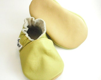 soft sole baby shoes infant kids children olive 18-24 m ebooba OT-14-O-M-4