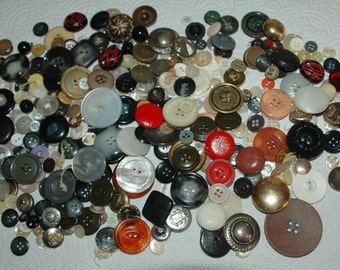 Buttons - Mixed Lot - Vintage