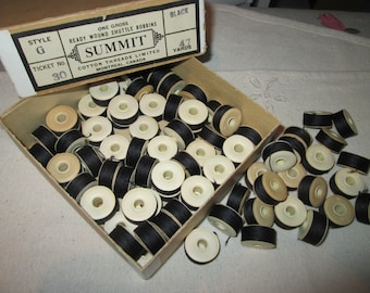 Vintage box 80 black wire coils / 42 Brown wire coils / rust