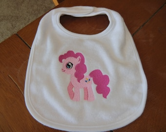 Embroidered Baby Bib - My Little Pony - Pinkie Pie