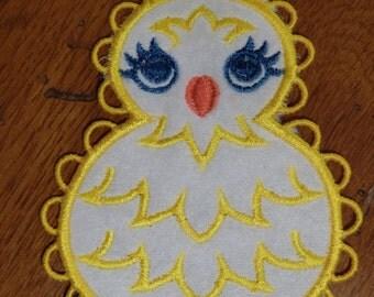 Embroidered Magnet - Easter - Felt Chick