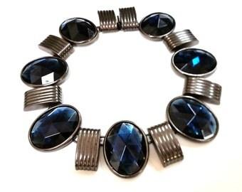 Vintage Ben Amun Silver and Blue Necklace