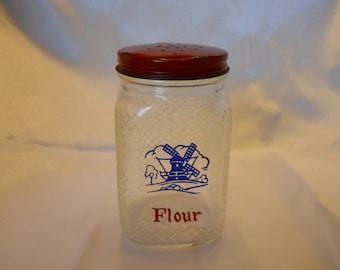 Blue Windmill Flour Sifter
