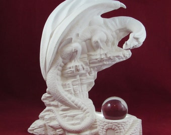 Ceramic Ready to Paint Outlook Dragon- 12 inches tall