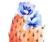 Cactus Art. Cactus Flower Art. Cacti Art. Watercolor Flowers. Bohemian Art. Boho Art. Bohemian Watercolor. Succulent Art. Arizona Desert