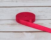 "10 Yards Red 1/2"" Satin Plush Back Strap Elastic Bra Making Bramaking Supplies Lingerie Sewing Latex Free Factory Dyed"