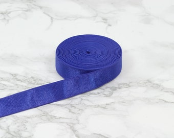 "5 Yards Purple 5/8"" Satin Plush Back Strap Elastic Bra Making Bramaking Supplies Lingerie Sewing Latex Free Factory Dyed"