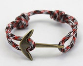 Nautical Bracelet - Paracord Bracelet - Anchor Bracelet - Mens Anchor Bracelet - Nautical Bracelets - Summer Fashion - Womens Bracelet