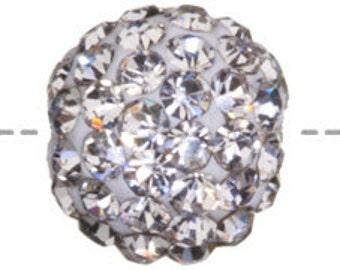 Set of 6 Crystal 6mm Bling Ball Bead (SKU 39 - BB-6-CR)