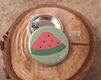 "1.25"" Watermelon Pinback button - badge - brooch"