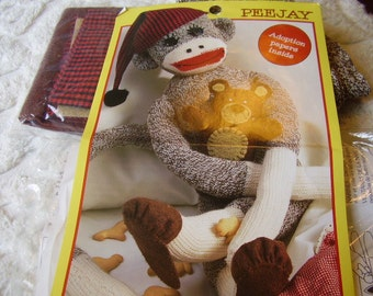 PEEJAY Sock Monkey Doll Kit