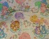 Care Bear Cousins sheet set twin size Elephant Penguin Lion Rabbit 80s characters retro bedding