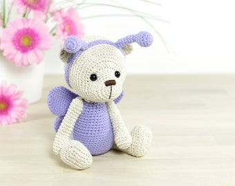 SALE -30% | Teddy bear in a butterfly costume - 4-way jointed