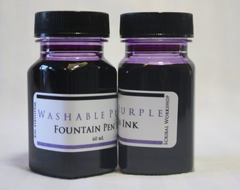 Washable Fountain Pen Ink, 2 oz purple, choice of bottle