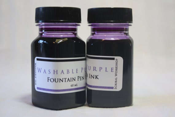 Washable Fountain Pen Ink, 2 oz purple, choice of bottle