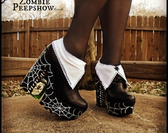 """Wednesday Addams """"Pick Your Poison"""" Boots"""