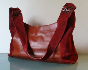 Made in Italy Arcadia  Suede & Leather Hobo Bag