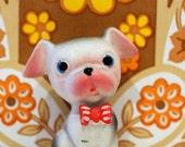 Vintage Pug Kitsch China Animal Figurine Dog Puppy French Bulldog
