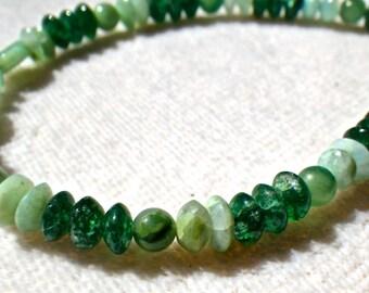 Green Aventurine and Chrysoprase Bracelet