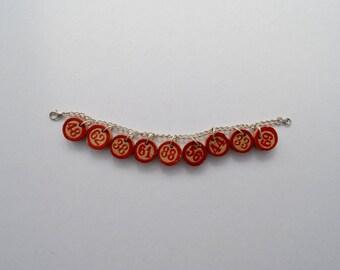 Vintage Lucky Bingo numbers bracelet