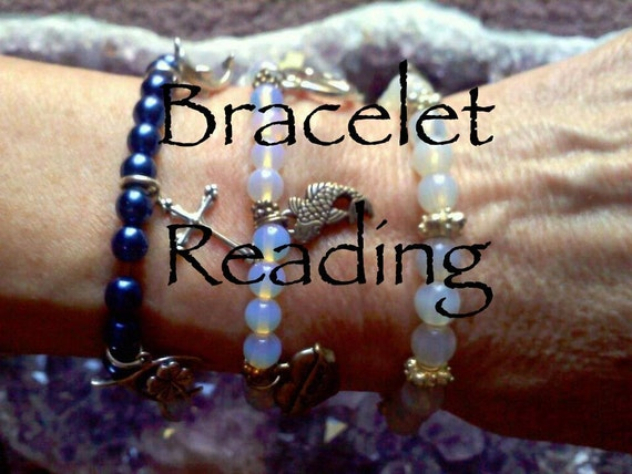 Bracelet with Reading, Healing Bracelet, Reading, Psychic Reading, Healing Jewelry, Yoga Jewelry, Healing Crystal And Stones, Yoga Bracelet