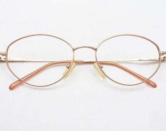 "Rare 80's Vintage ""ALL-TECH"" John Lennon Style Brown Metal Frames"