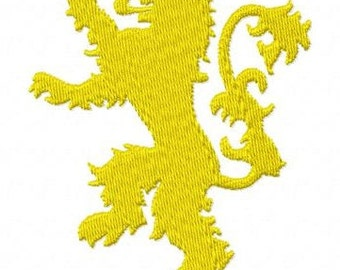 Game of Thrones House Lannister sigil machine embroidery design 3 inch instant download