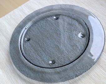 Round Glass Plate. Round Dessert Plate. Fused Glass Dish. Appetizer Plate. Starter Glass Plate. Glass Dinnerware. Minimalist Cake Plate