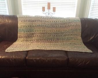 Criss-cross Crochet Afghan
