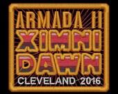 Armada II Ximni Dawn Cleveland 2016 Iron-On Patch - Red